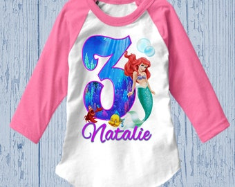 Little Mermaid Birthday Shirt - Ariel Birthday Shirt