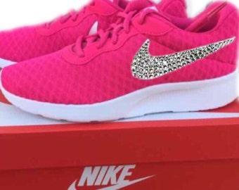 Nike Tanjun Swarovski Bling Shoe - Pink