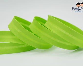 bias tape light green, bias binding