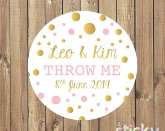 Personalized Throw Me Stickers, Personalized Wedding Stickers, Wedding Labels, Wedding Favour Stickers, Confetti Stickers, Wedding Ideas