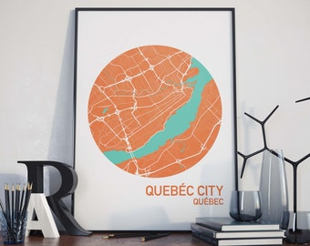 Quebec City, Quebec City Map Print