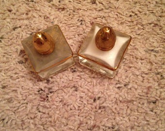 Vintage gold plated dainty salt and pepper shakers