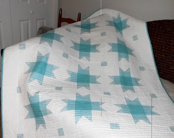 Fresh Linens quilt all cotton - so crisp and clean!