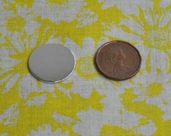 10 Polished 3/4' Metal Stamping Disc Blanks 18g 1100 Food Safe Aluminum