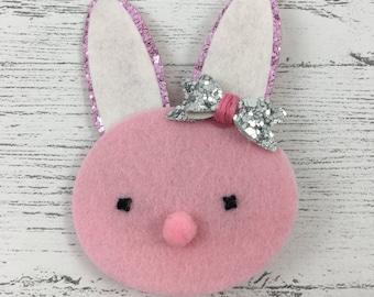 Bunny Hair Clip - Felt Hair Clip - Baby Hair Clip - Toddler Hair Clip - Girl's Hair Clip