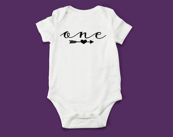 One Baby Bodysuit - Baby Shower Gift, New Baby Gift, Birthday Gift