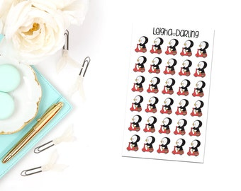 Scooter Penguin Planner Stickers