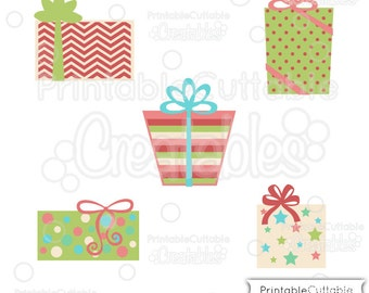 Christmas Presents SVG Cut Files & Clipart E210 - Includes Limited Commercial Use!
