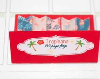 Page Flags | Tropicana | floral