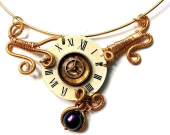 Golden wrap Choker vintage dial