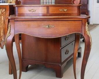 Antique French Walnut Ladies Writing Desk, Bureau, Hall Table