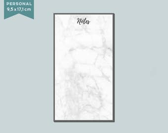 "Notepad ""marble notes"" 50 sheets - Filofax personal"