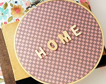 Home sign decor, 3d wall art Word art, Home warming gift, Home wall decor, Living room decor, Entryway decor, Fabric wall hanging, word sign