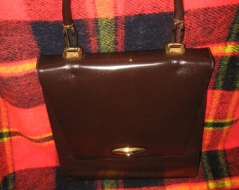 Leatherschool  Florence Brown Vintage Leather Handbag...Made In Italy
