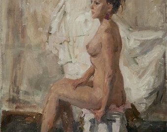 Nude, 27.1x19.2 inches