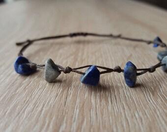 Lapis chip beads Bracelet