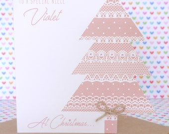 Beautiful Personalised Handmade Boy or Girl Christmas Card