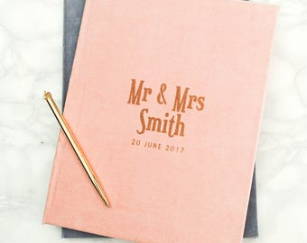 Luxury Velvet Personalised Wedding Book