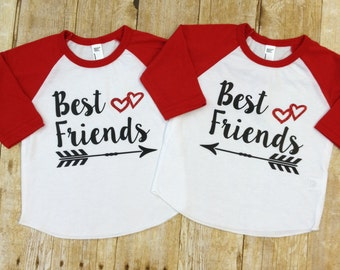 Best Friends Raglan Shirt, Matching Mommy and Me BFF Shirt ,Besties Shirt. BFF Shirt