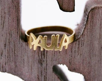 Ring personalized with the name