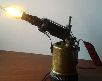 Unique Blowtorch Vintage Desk Lamp Industrial Chic Upcycled