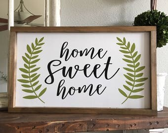 Large Home Sweet Home sign