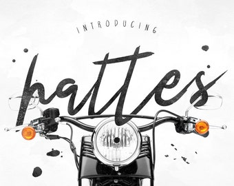 Hattes Typeface Font Download Brush Digital