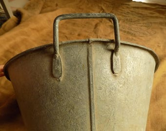 Old French Zinc Tub for Garden, Industrial, Shop Display,