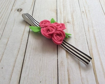 Handmade Felt Flower Headband Baby / Toddler / Girl