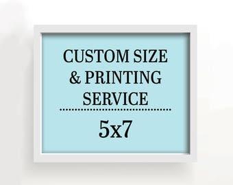 5x7 art print - custom printing services