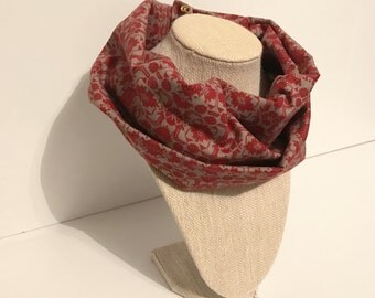 Red Tribal Safe Infinity Scarf