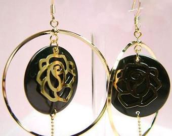 Rose Tassel Dangle Earrings
