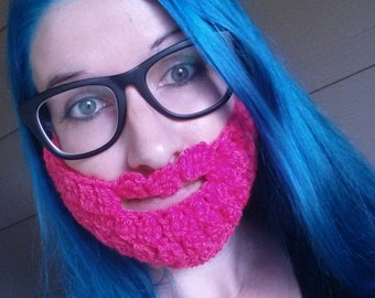 Pink Beard Face Warmer!