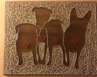 Custom Pet Silhouette String Art