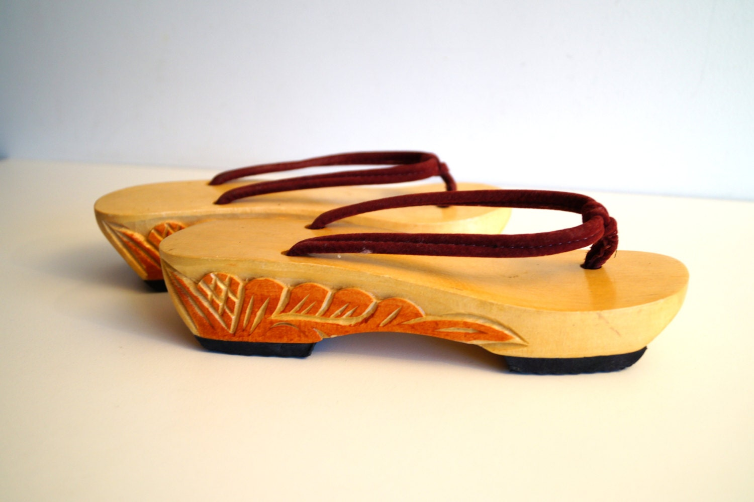 Wooden crib for sale makati - Vintage Wooden Sandals Wood Clogs Made In Philippines Souvenir Shoes Hand Carved Tribal Painted Wood Slippers Handmade Womens Wooden Shoes