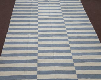grey and white striped rug bluish grey and whiteivory kilim rug 5x8