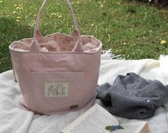 "Cotton canvas bag ""Sorbet"" Strawberry pink"