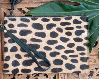 Small Purse * Leather * Cowhide * Wallet * Clutch * Little * Tiny * Handmade * Minimalist * Boho * Bohemian *Hippie chic *Animal Print BW008
