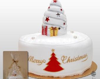 Xmas Cake Origami - Ref. Christmas Tree - Set of 3 Towels