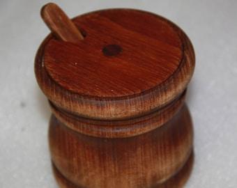 wood sugar bowl with wood spoon handmade sugar bowl with lid and spoon to match vintage sugar bowl