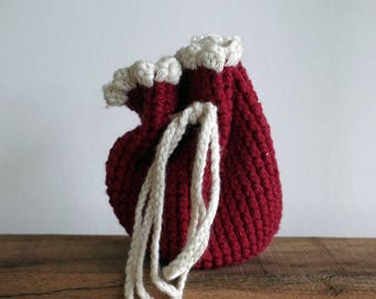 Bag small red stained