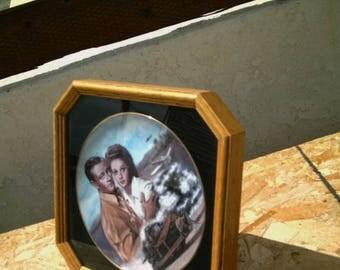 "Summer Sale Free Shipping Susie Morton John Wayne ~ Susan Hayward ~ Dennis O' Keefe Plate ""The Fighting Seabees ""  Movie Plate Oak Framed"
