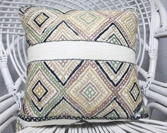 Decorative Kilim Pillow Turkish Kilim Pillow 16x16 White Kilim Pillow Multi Color Kilim Pillow Home Decor Cushion Cover 1299