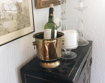 Vintage brass wine holder, ice bucket, plant holder, kitchen utensil holder