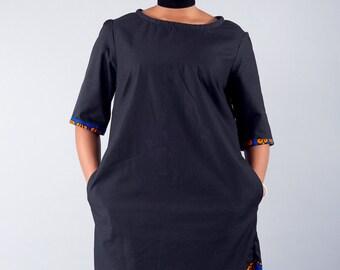 Ankara Dress, Mixed Print Aknkara Dress, Loose fit dress, Patterned dress