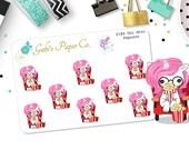 Unicorn Popcorn Mini Planner Stickers {2184P Uni Popcorn Mini }