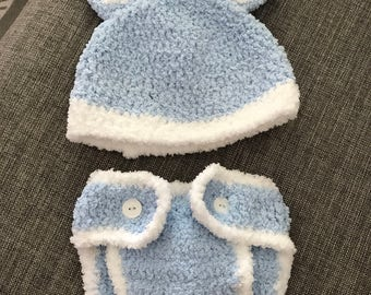 Baby/Toddler Easter Bunny Beanie and Diaper Cover!