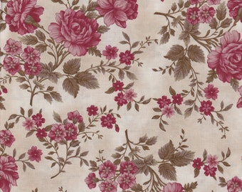 Journey to Versailles - Per Yd - Henry Glass - Mary Jane Carey - Floral on Cream