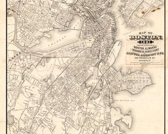 1881 Map of Boston Massachusetts