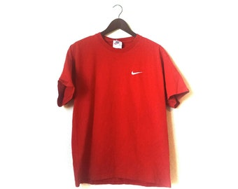 Vintage 1990s Nike basic simple minimalist distressed tshirt